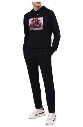 Мужской хлопковое худи LIMITATO черного цвета, арт. TURB0/H00DIE | Фото 2