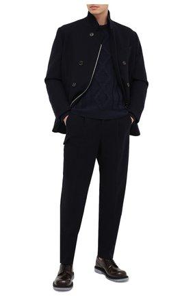 Мужской свитер из шерсти и кашемира GIORGIO ARMANI темно-синего цвета, арт. 6HSM21/SM28Z | Фото 2