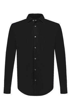 Мужская хлопковая сорочка BOSS черного цвета, арт. 50440257 | Фото 1