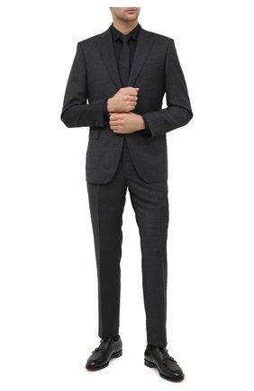 Мужская хлопковая сорочка BOSS черного цвета, арт. 50440257 | Фото 2