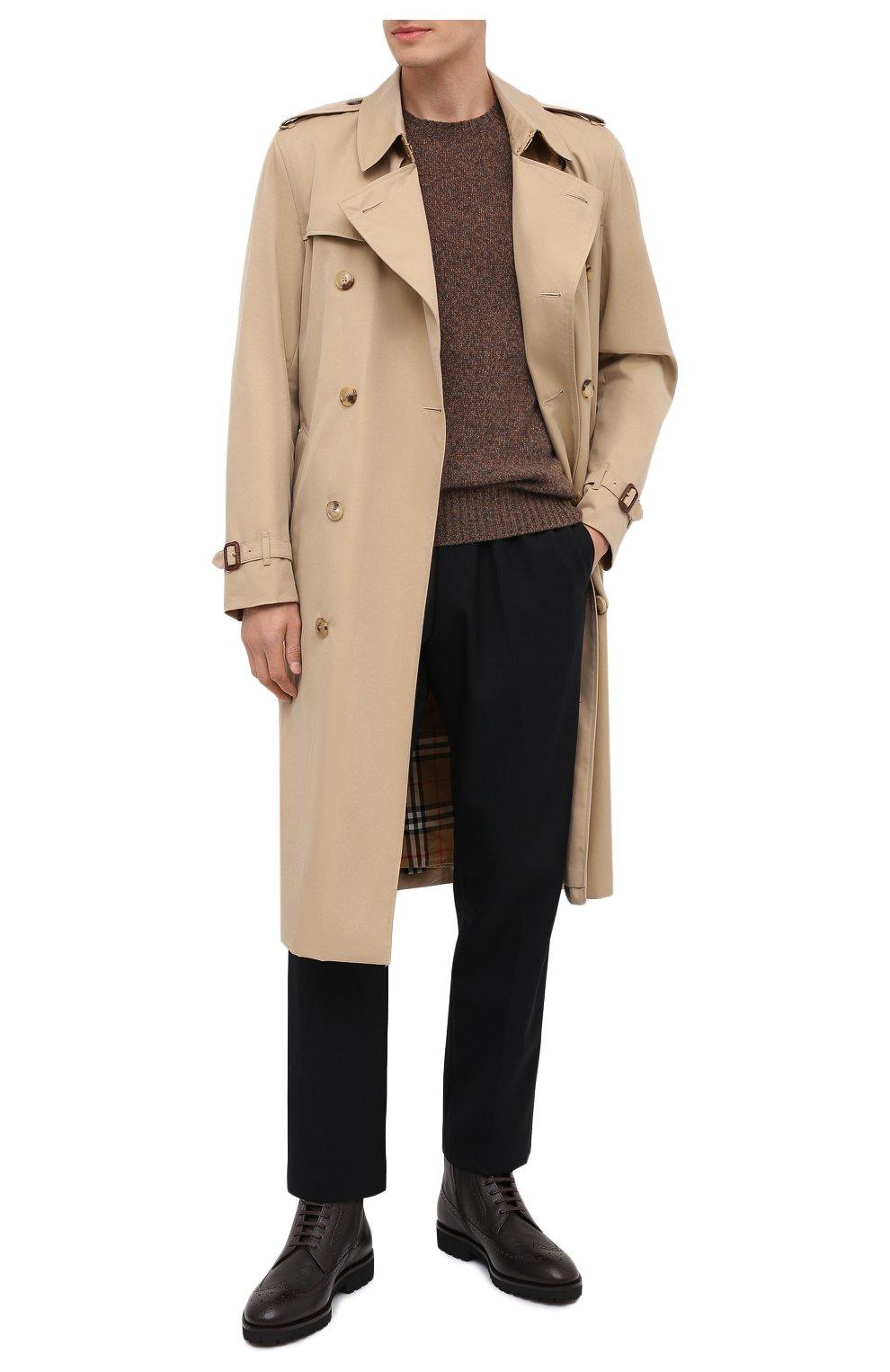 Мужские кожаные ботинки BOSS темно-коричневого цвета, арт. 50439770 | Фото 2