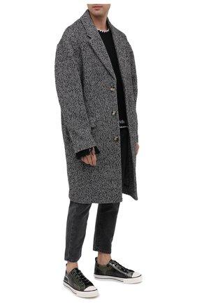 Мужские кожаные кеды valentino garavani giggies VALENTINO хаки цвета, арт. UY2S0D57/DXL | Фото 2