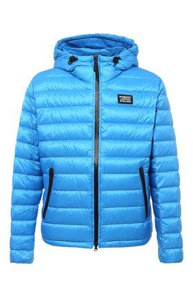 Мужская пуховая куртка BURBERRY синего цвета, арт. 8031734 | Фото 1
