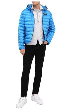 Мужская пуховая куртка BURBERRY синего цвета, арт. 8031734 | Фото 2