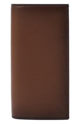 Мужской кожаное портмоне RALPH LAUREN коричневого цвета, арт. 436824093   Фото 1