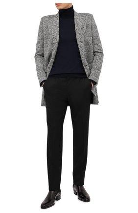 Мужские кожаные челси SAINT LAURENT черного цвета, арт. 631601/1Y000 | Фото 2