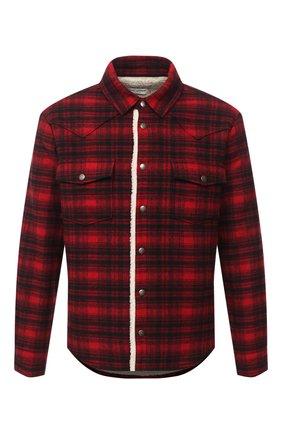 Мужская куртка-рубашка SAINT LAURENT красного цвета, арт. 636685/Y592V | Фото 1