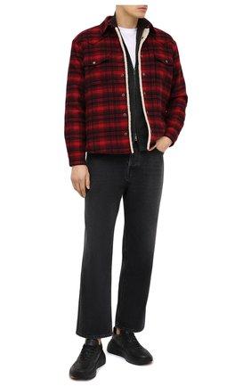 Мужская куртка-рубашка SAINT LAURENT красного цвета, арт. 636685/Y592V | Фото 2