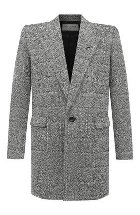 Мужской пальто SAINT LAURENT серого цвета, арт. 626703/Y1B11 | Фото 1