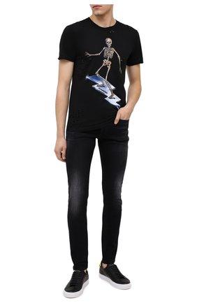 Мужские джинсы DIESEL черного цвета, арт. 00SWJF/0092B | Фото 2