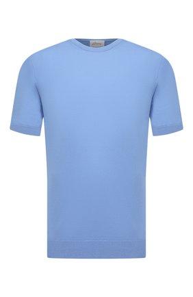 Мужской хлопковый джемпер BRIONI голубого цвета, арт. UMR00L/08K01 | Фото 1