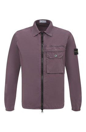 Мужская хлопковая рубашка STONE ISLAND бордового цвета, арт. 7315107WN   Фото 1