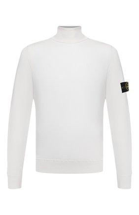Мужской шерстяная водолазка STONE ISLAND белого цвета, арт. 7315528C4   Фото 1