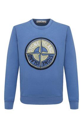 Мужской хлопковый свитшот STONE ISLAND синего цвета, арт. 731563094   Фото 1