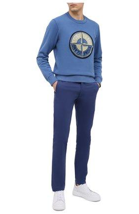 Мужской хлопковый свитшот STONE ISLAND синего цвета, арт. 731563094 | Фото 2