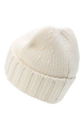 Мужская шерстяная шапка STONE ISLAND белого цвета, арт. 7315N17D6 | Фото 2