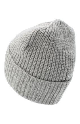 Мужская шерстяная шапка STONE ISLAND светло-серого цвета, арт. 7315N10B5 | Фото 2