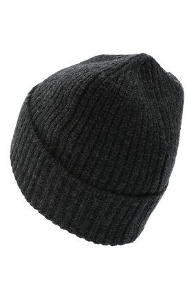 Мужская шерстяная шапка STONE ISLAND темно-серого цвета, арт. 7315N10B5 | Фото 2