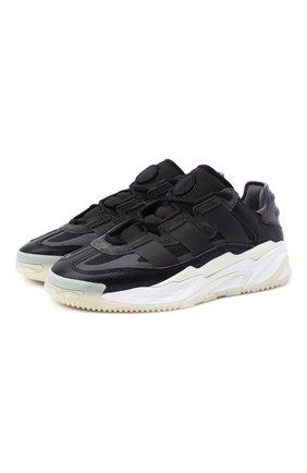 Мужские комбинированные кроссовки niteball ADIDAS ORIGINALS черного цвета, арт. FV4848 | Фото 1