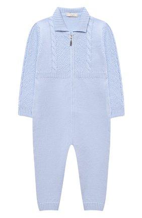 Детский шерстяной комбинезон BABY T голубого цвета, арт. 20AI031TZ/18M-3A | Фото 1