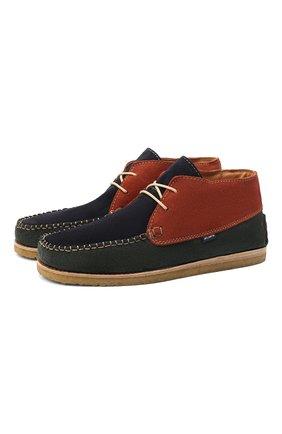 Детские замшевые ботинки ATLANTA MOCASSIN разноцветного цвета, арт. 9AT4AC073C3SBJ/42-47 | Фото 1