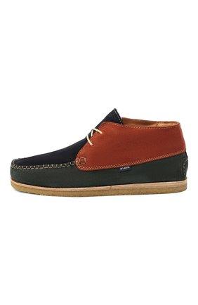 Детские замшевые ботинки ATLANTA MOCASSIN разноцветного цвета, арт. 9AT4AC073C3SBJ/42-47 | Фото 2