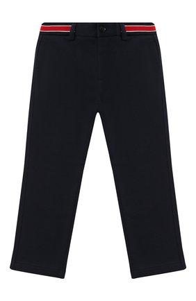 Детские хлопковые брюки DOLCE & GABBANA темно-синего цвета, арт. L4JPBT/G7XDD/8-14 | Фото 1