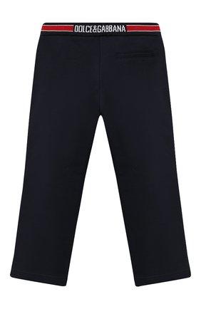 Детские хлопковые брюки DOLCE & GABBANA темно-синего цвета, арт. L4JPBT/G7XDD/8-14 | Фото 2