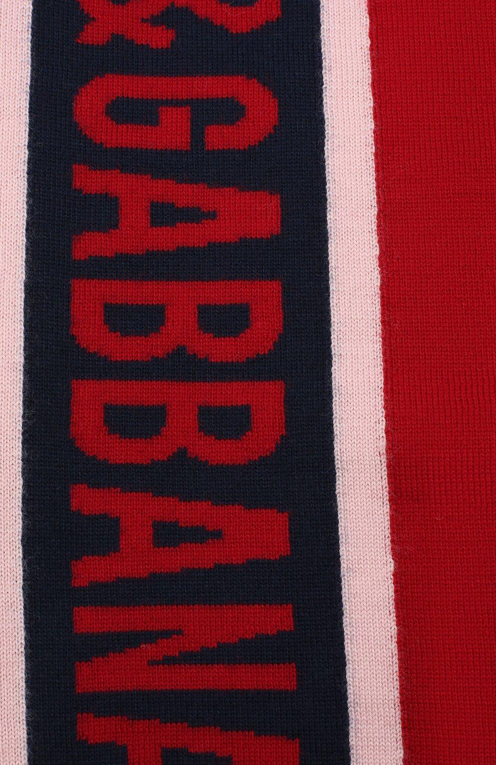 Детский шерстяной шарф DOLCE & GABBANA красного цвета, арт. LBKA53/JAVWG | Фото 2