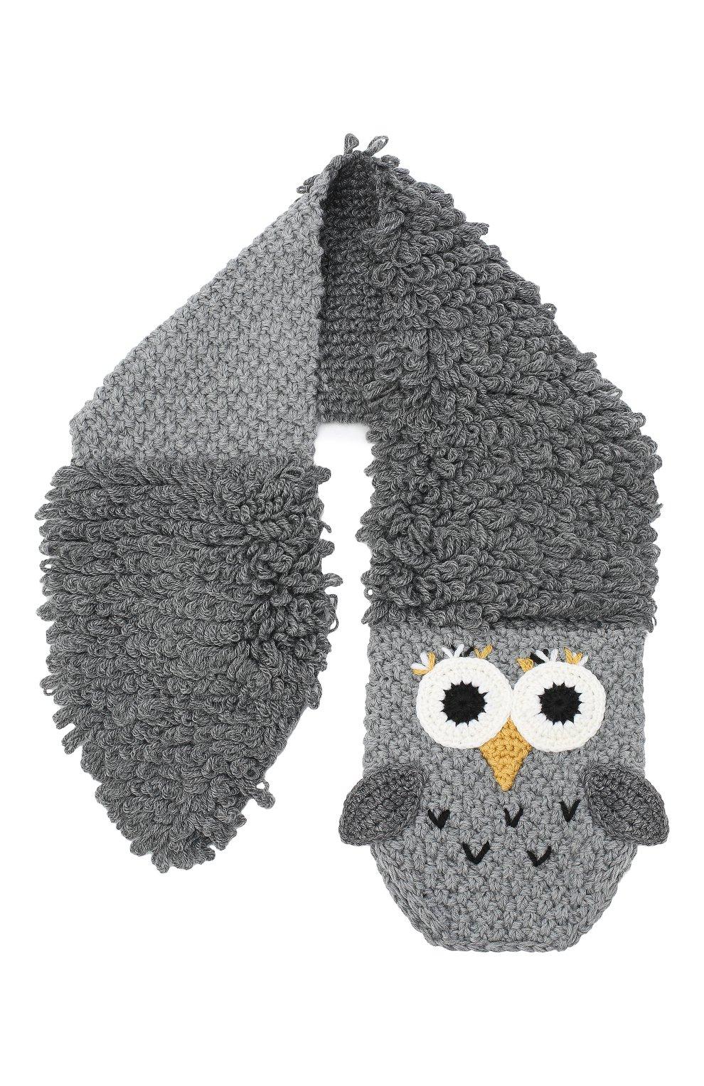 Детский шерстяной шарф DOLCE & GABBANA темно-серого цвета, арт. LBKA69/JAVYT | Фото 1