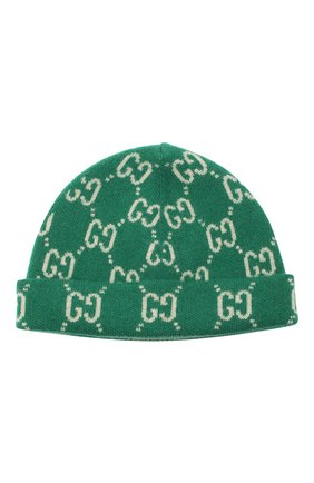 Детского шерстяная шапка GUCCI зеленого цвета, арт. 627559/3K206 | Фото 1