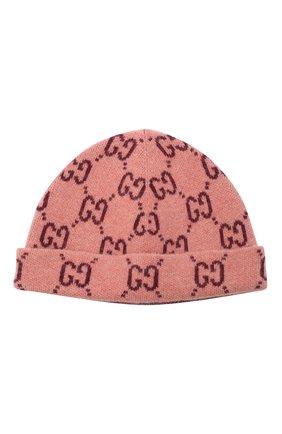 Детского шерстяная шапка GUCCI розового цвета, арт. 627559/3K206 | Фото 1