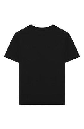 Детская хлопковая футболка MSGM KIDS черного цвета, арт. 025140 | Фото 2