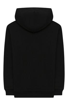 Детский хлопковое худи MSGM KIDS черного цвета, арт. 025204 | Фото 2