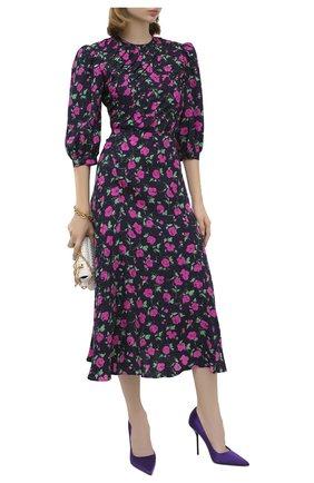 Женские текстильные туфли TOM FORD фиолетового цвета, арт. W2524T-TSA001 | Фото 2