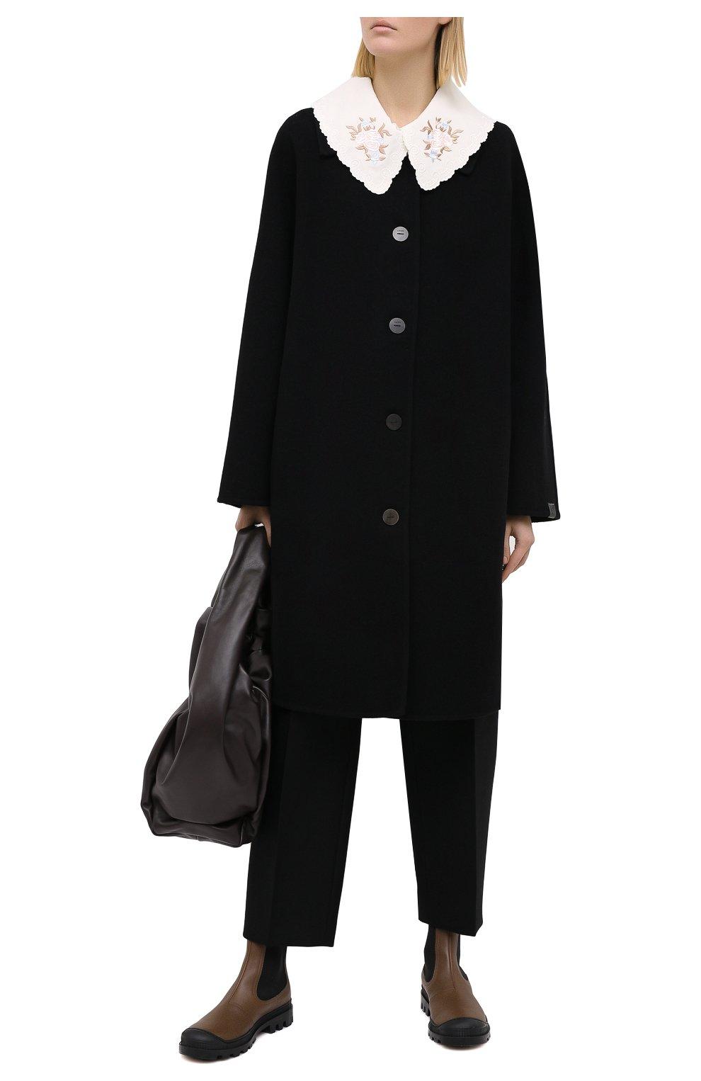 Женские кожаные челси LOEWE хаки цвета, арт. L815S05X05 | Фото 2