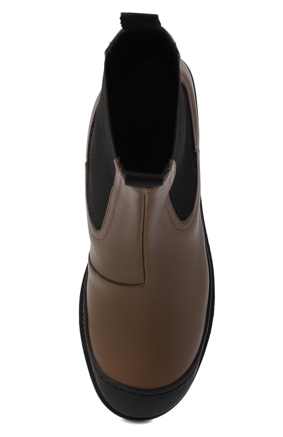 Женские кожаные челси LOEWE хаки цвета, арт. L815S05X05 | Фото 5