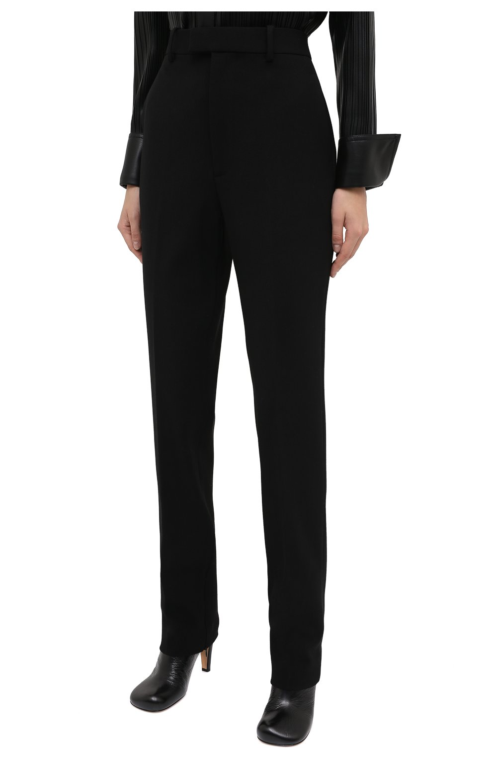Женские брюки BOTTEGA VENETA черного цвета, арт. 636529/V02W0 | Фото 4