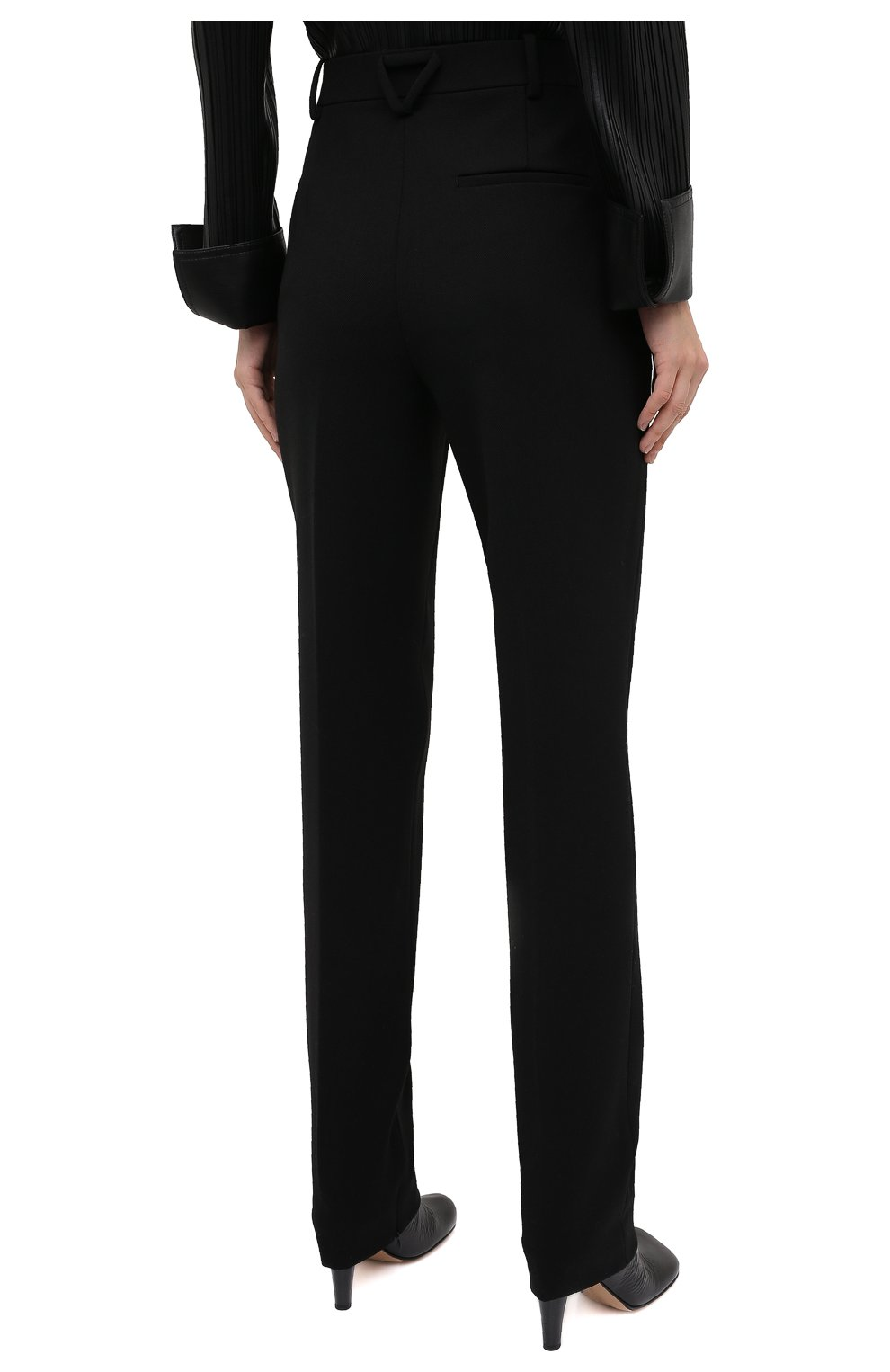 Женские брюки BOTTEGA VENETA черного цвета, арт. 636529/V02W0 | Фото 5