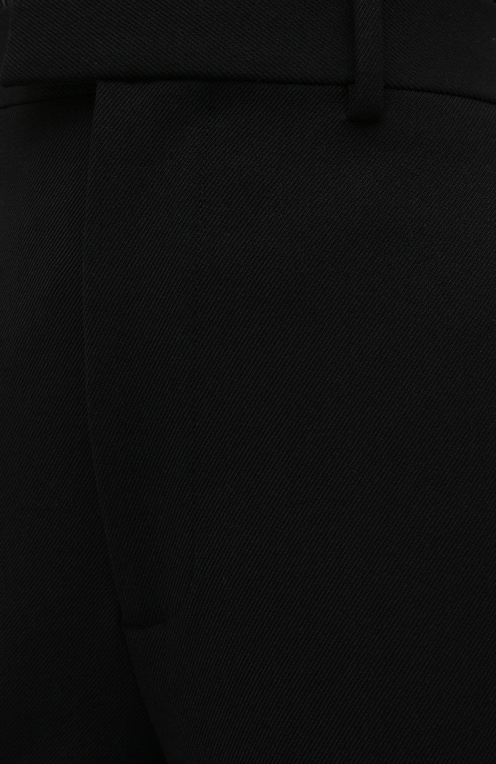 Женские брюки BOTTEGA VENETA черного цвета, арт. 636529/V02W0 | Фото 6