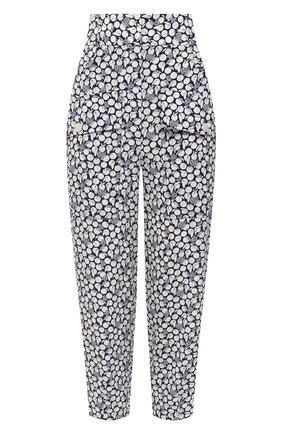 Женские шелковые брюки STELLA MCCARTNEY темно-синего цвета, арт. 601213/SPA22 | Фото 1