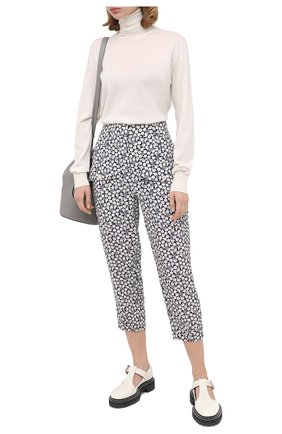 Женские шелковые брюки STELLA MCCARTNEY темно-синего цвета, арт. 601213/SPA22 | Фото 2