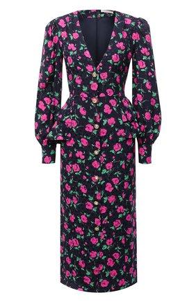 Женское шелковое платье ALESSANDRA RICH синего цвета, арт. FAB2222-F2903 | Фото 1