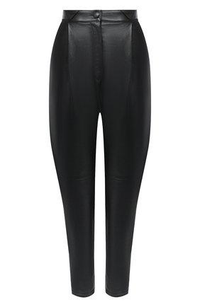 Женские кожаные брюки ALESSANDRA RICH черного цвета, арт. FAB2274-L3035 | Фото 1