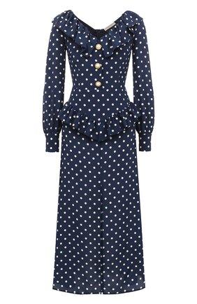 Женское шелковое платье ALESSANDRA RICH синего цвета, арт. FAB2315-F2923 | Фото 1