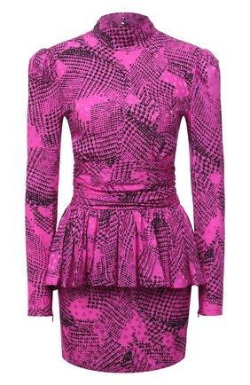 Женское шелковое платье ALESSANDRA RICH розового цвета, арт. FAB2327-F2911   Фото 1