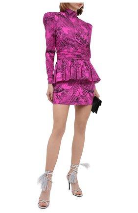 Женское шелковое платье ALESSANDRA RICH розового цвета, арт. FAB2327-F2911   Фото 2
