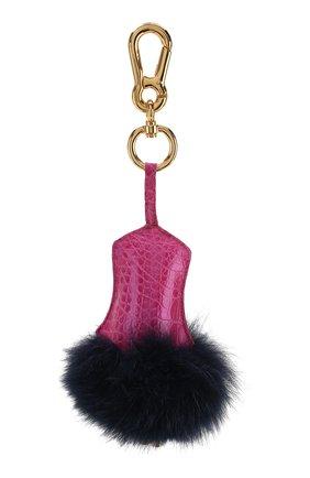 Женский брелок для ключей RUBEUS MILANO розового цвета, арт. CHARMBLUROS01 | Фото 1