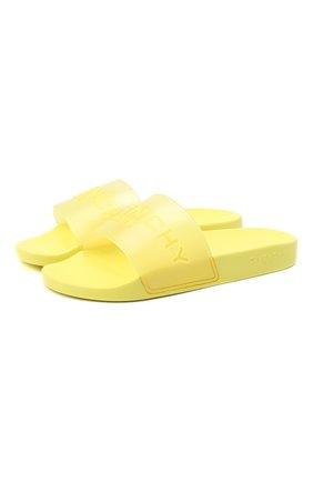 Мужские шлепанцы GIVENCHY желтого цвета, арт. BH300HH0PV | Фото 1