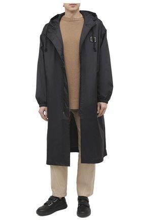 Мужские кожаные кеды perey ACNE STUDIOS черного цвета, арт. BD0111 | Фото 2